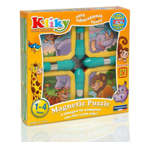 KLIKY PUZZLE MAGNETIC ANIMALE SAFARI - SUPERMAG (SM0026)