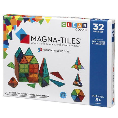 MAGNA-TILES® CLEAR COLORS 32 PIECE SET - MAGNA TILES (02132-MGT)