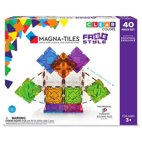 MAGNA-TILES® FREESTYLE CU MAGNETI MOBILI (40 PIESE) - MAGNA TILES (18840-MGT)