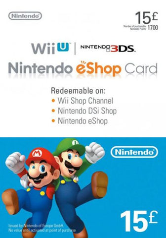 NINTENDO ESHOP £15 - OFFICIAL WEBSITE - PC - EU