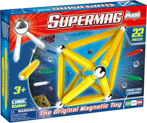 SUPERMAG MAXI ONE COLOR - SET CONSTRUCTIE 22 PIESE - SUPERMAG (SM0121)