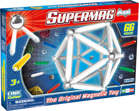SUPERMAG MAXI ONE COLOR - SET CONSTRUCTIE 66 PIESE - SUPERMAG (SM0123)