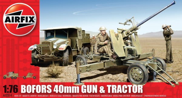 BOFORS 40MM GUN AND TRACTOR - AIRFIX (AF02314)