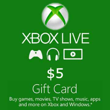 XBOX LIVE GIFT CARD 5 USD - US - MULTILANGUAGE - XBOX Libelula Vesela