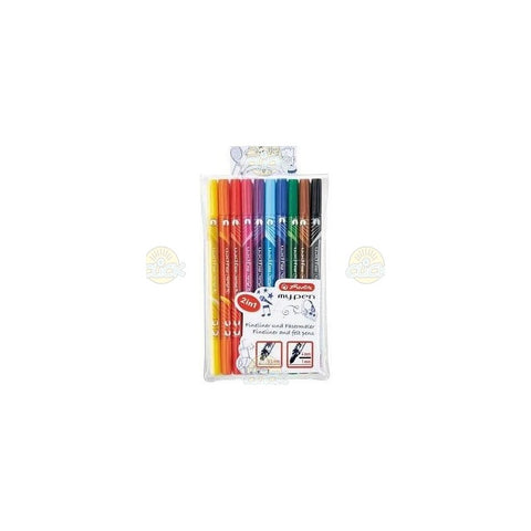 CARIOCA + LINER 0,5 MM SET 10 CULORI HERLITZ MY.PEN - 11367232