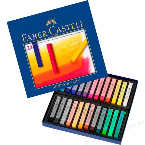CREIOANE COLORATE PASTEL SOFT 24 CULORI FABER-CASTELL - FABER-CASTELL (FC128324)