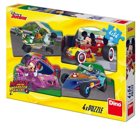 PUZZLE 4 IN 1 - MICKEY MOUSE SI MINNIE LA CURSA (54 PIESE) - DINO TOYS (333208)