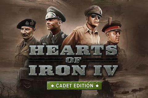 HEARTS OF IRON IV - CADET EDITION - UNCUT - STEAM - PC / MAC - WORLDWIDE