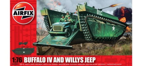 KIT CONSTRUCTIE AIRFIX BUFFALO IV SI WILLYS JEEP (2302)