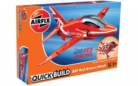 KIT CONSTRUCTIE QUICK BUILD RAF RED ARROWS HAWK - AIRFIX (AFJ6018) Libelula Vesela Jucarii