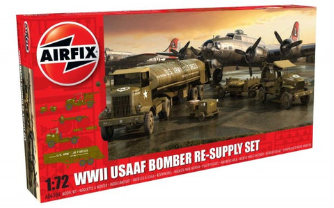 KIT CONSTRUCTIE AIRFIX WWII USAAF 8TH AIR FORCE BOMBER RESUPPLY (6304)