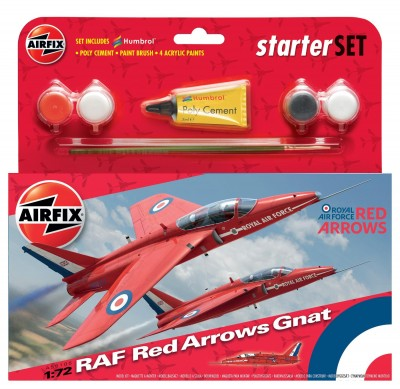 KIT CONSTRUCTIE AVION RAF RED ARROWS GNAT (55105)