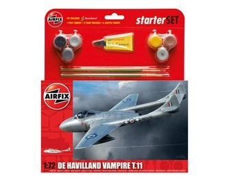 KIT CONSTRUCTIE SI PICTURA AVION DE HAVILLAND VAMPIRE T11 - AIRFIX (AF55204)