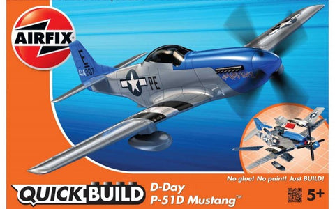 KIT CONSTRUCTIE  QUICK BUILD AVION D-DAY P-51D MUSTANG - AIRFIX (AFJ6046) Libelula Vesela