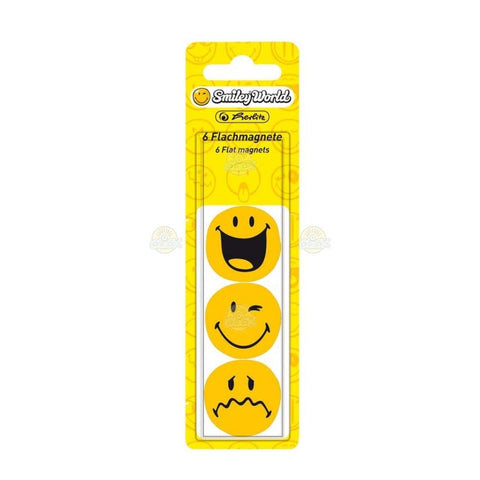 MAGNETI SMILEY WORLD DIAMETRU 30MM, 6 BUC./SET, HERLITZ - 11299245