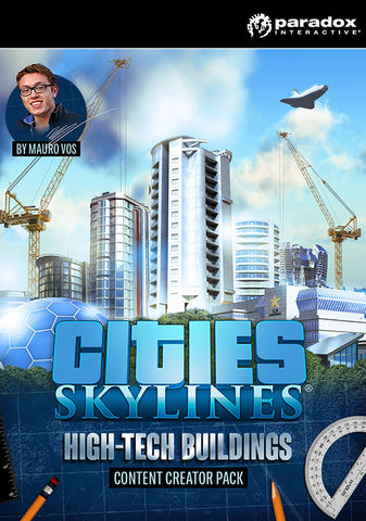 CITIES: SKYLINES - CONTENT CREATOR PACK: HIGH-TECH BUILDINGS (DLC) - STEAM - PC