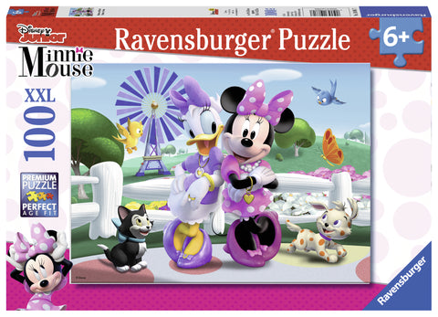 PUZZLE MINNIE SI DAISY, 100 PIESE - RAVENSBURGER (RVSPC10881)