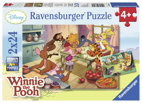 PUZZLE WINNIE THE POOH, 2X24 PIESE - RAVENSBURGER (RVSPC08856)