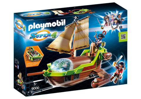 SUPER 4 - BARCA PIRATULUI CAMELEON - PLAYMOBIL (PM9000)