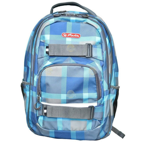 RUCSAC ERGONOMIC SKATER BLUE CHECKERS - HERLITZ (9481500)