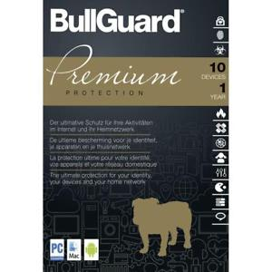BULLGUARD PREMIUM PROTECTION (10 DEVICES, 1 YEAR) - OFFICIAL WEBSITE - MULTILANGUAGE - WORLDWIDE - PC