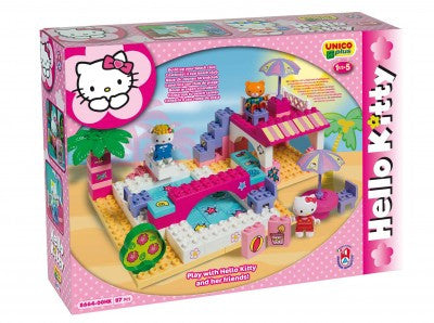 SET CONSTRUCTIE UNICO PLUS HELLO KITTY LA PISCINA - ANDRONI GIOCATTOLI (UN8664)