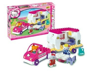 SET CONSTRUCTIE UNICO PLUS HELLO KITTY RULOTA - ANDRONI GIOCATTOLI (UN8679)