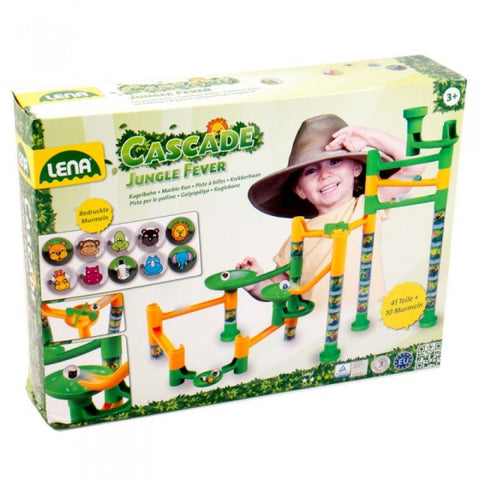SET DE JOACA LABIRINT DE BILE 41 PIESE SI 10 BILE JUNGLE ADVENTURE - LENA (LE65206)