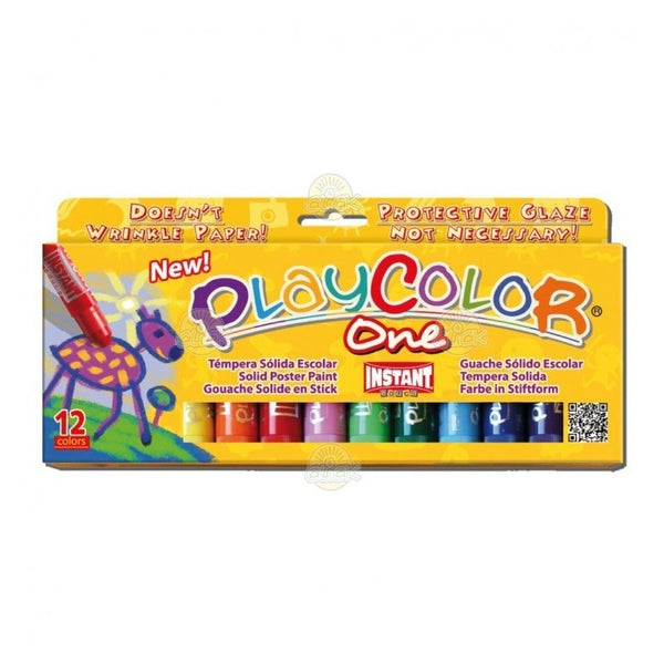 TEMPERA SOLIDA 12 CULORI PLAYCOLOR ONE, INSTANT - PLAYCOLOR ( INS10731)