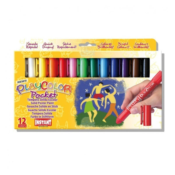 TEMPERA SOLIDA 12 CULORI PLAYCOLOR POCKET, INSTANR - PLAYCOLOR (  INS10521)