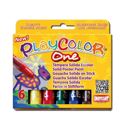 TEMPERA SOLIDA 6 CULORI, INSTANT - PLAYCOLOR ONE ( INS10711)