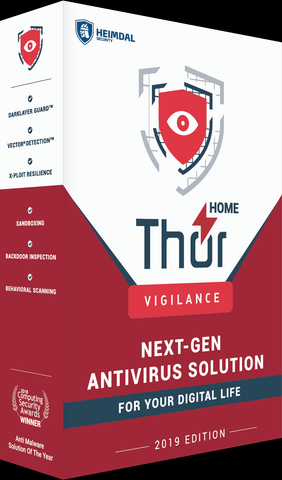 THOR VIGILANCE HOME - ANTIVIRUS (1 YEAR / 3 PCS) - OFFICIAL WEBSITE - MULTILANGUAGE - WORLDWIDE - PC