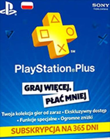 PLAYSTATION NETWORK CARD 365 DAYS (POLAND) - PLAYSTATION - MULTILANGUAGE