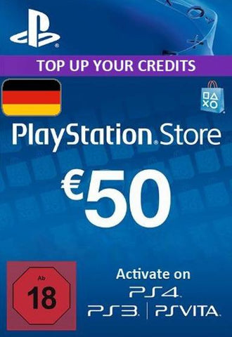 PLAYSTATION NETWORK CARD (PSN) 50 EUR (GERMAN) - PLAYSTATION - EU Libelula Vesela