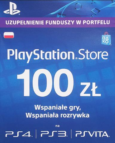 PLAYSTATION NETWORK CARD (PSN) 100 PLN - PLAYSTATION - PL