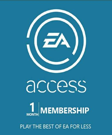 EA ACCESS PASS CODE 1 MONTH - XBOX LIVE - PC - WORLDWIDE