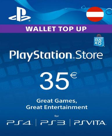 PLAYSTATION NETWORK CARD (PSN) 35 EUR (AUSTRIAN) - PLAYSTATION - EU