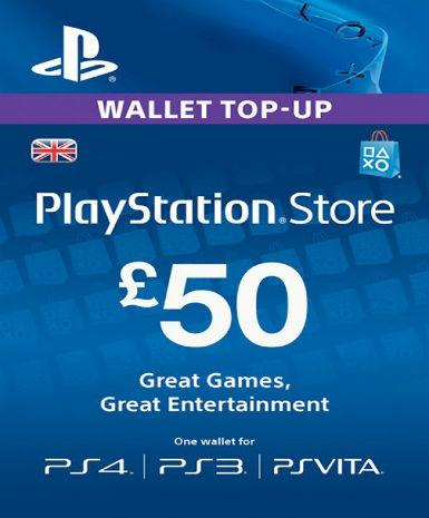 PLAYSTATION NETWORK CARD (PSN) £50 (UK) - PLAYSTATION - EU Libelula Vesela