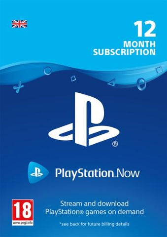 PLAYSTATION NOW - 12 MONTHS (UK) - PLAYSTATION - EU - EN