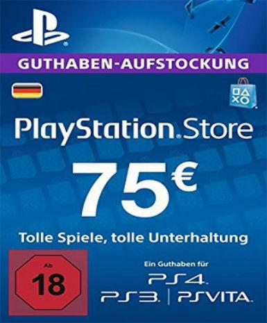 PLAYSTATION NETWORK CARD (PSN) 75 EUR (GERMAN) - PLAYSTATION - EU
