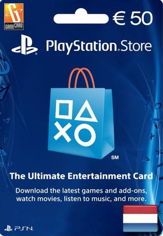 PLAYSTATION NETWORK CARD (PSN) 50 EUR (NETHERLANDS) - PLAYSTATION - EU
