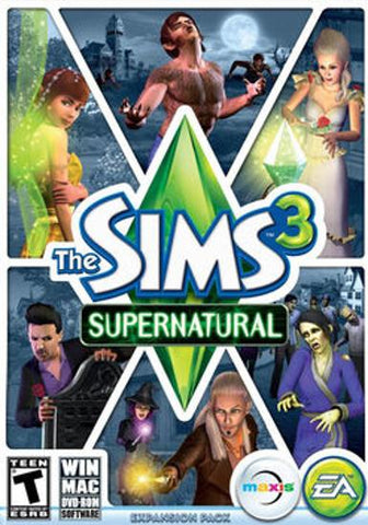 THE SIMS 3: SUPERNATURAL - ORIGIN - PC / MAC - WORLDWIDE