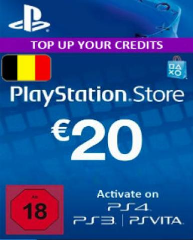 PLAYSTATION NETWORK CARD (PSN) 20 EUR (BELGIUM) - PLAYSTATION - EU