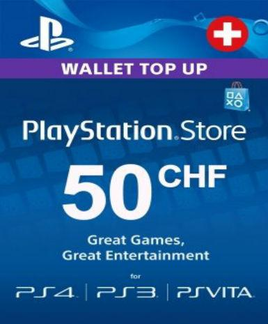PLAYSTATION NETWORK CARD (PSN) 50 CHF (SWITZERLAND) - PLAYSTATION - EU