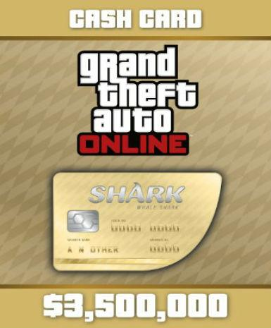 GRAND THEFT AUTO V GTA: WHALE SHARK CASH CARD - ROCKSTAR SOCIAL CLUB - PC - WORLDWIDE