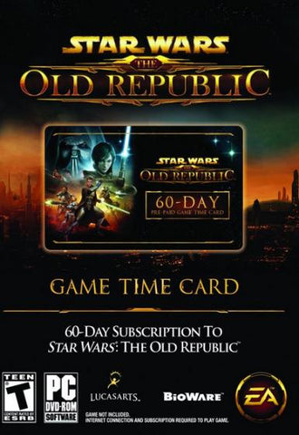 STAR WARS: THE OLD REPUBLIC - 60-DAY TIME CARD - OFFICIAL WEBSITE - PC