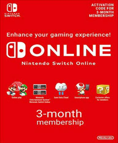 NINTENDO ONLINE 3 MONTH SUBSCRIPTION EU - NINTENDO SWITCH - EU - EU
