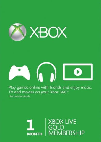 XBOX LIVE GOLD 1 MONTH - WORLDWIDE