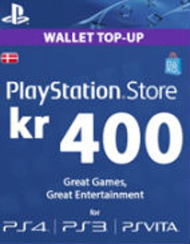 PLAYSTATION NETWORK CARD (PSN) 400 DKK (DENMARK) - PLAYSTATION - EU