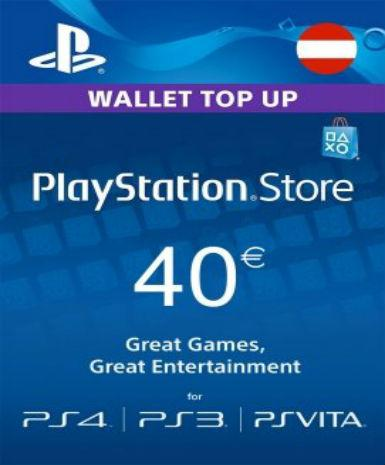 PLAYSTATION NETWORK CARD (PSN) 40 EUR (AUSTRIAN) - PLAYSTATION - EU